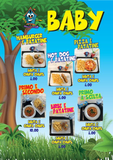 menu baby